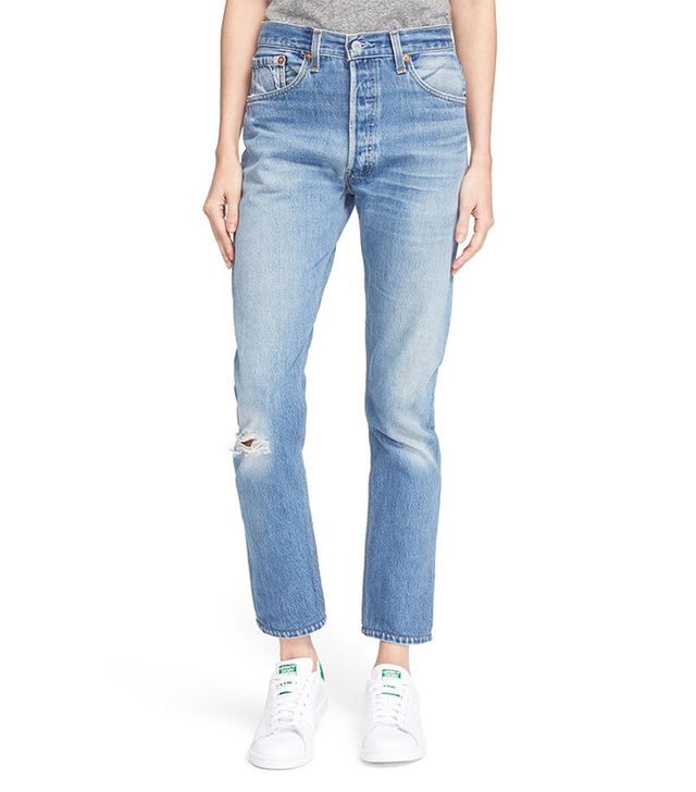 Re/Done The High Waist Reconstructed Jeans