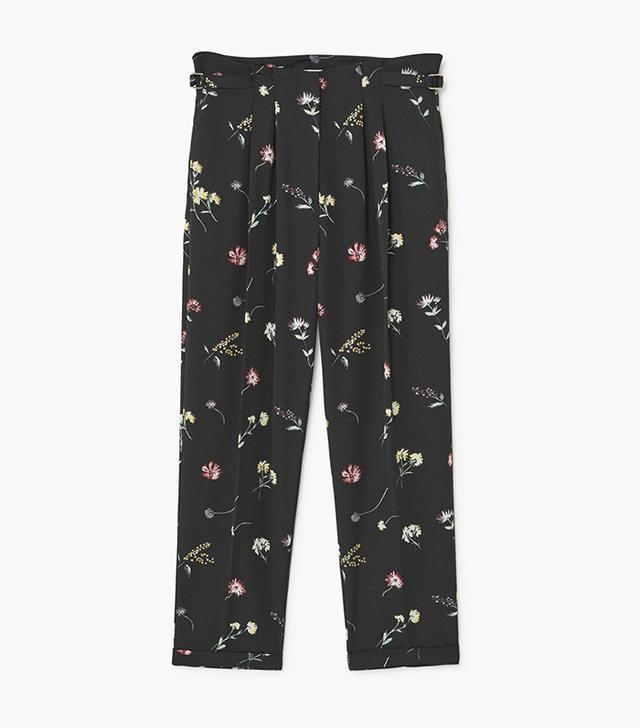Mango Floral Print Trouser
