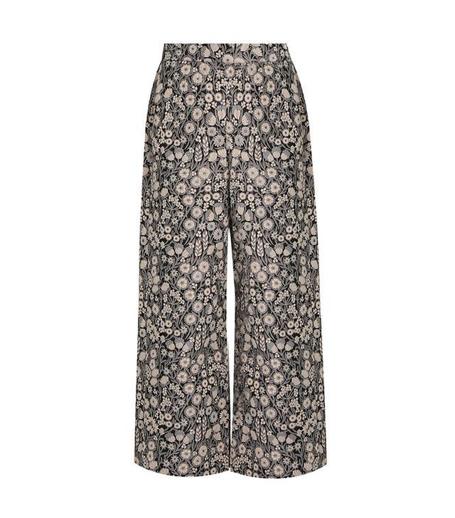 Rebecca Taylor Liane Floral-Jacquard Trousers