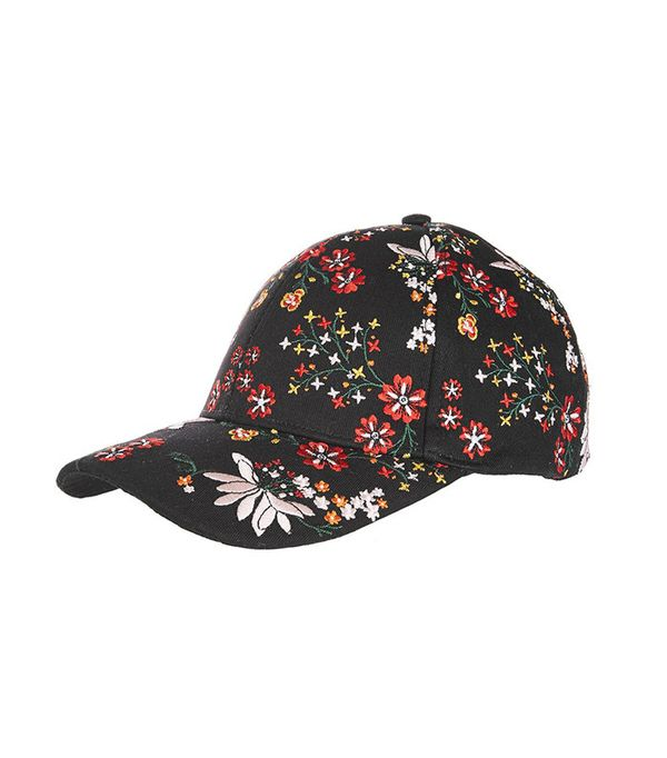 Topshop Floral Embroidered Cap