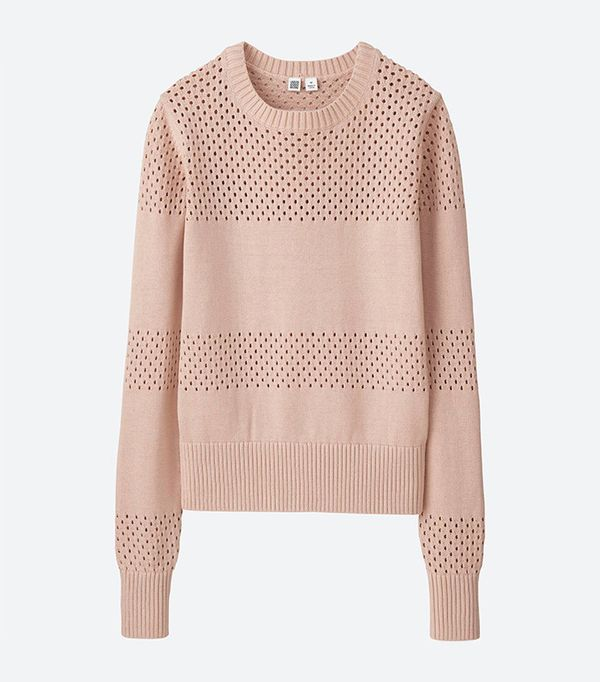 Uniqlo U Cotton Mesh Crewneck Sweater