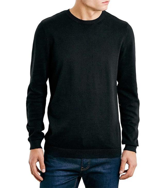 Topman Cotton Twist Crewneck Sweater