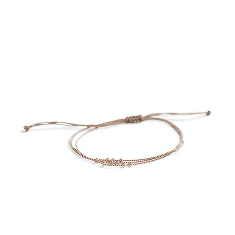 Friendship Bracelet With Rose Gold Beads