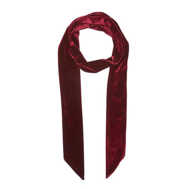 Sportsgirl Wine Velvet Neck Tie