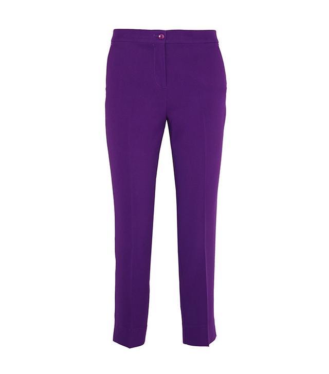 Etro Capri cropped crepe slim-leg pants