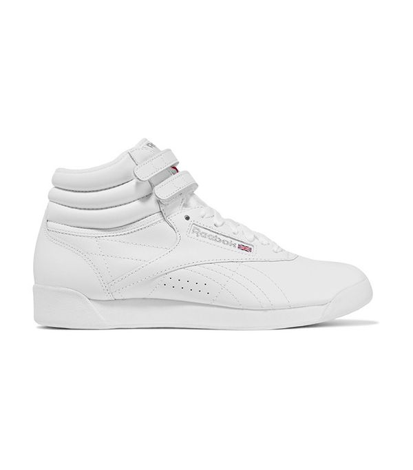 Reebok Freestyle Leather High-Top Sneakers