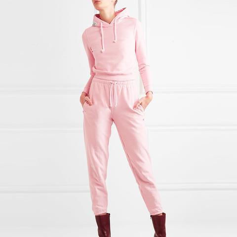 Appliquéd Cotton-Blend Jersey Hooded Top