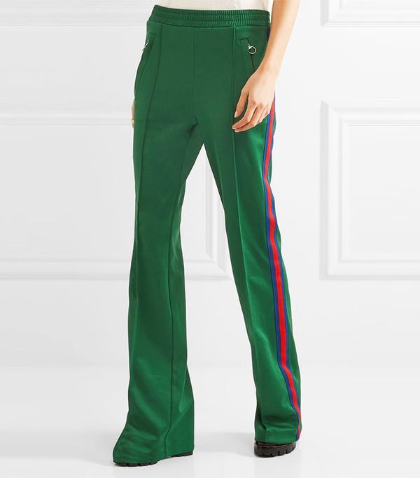 Gucci Striped Satin-Jersey Track Pants