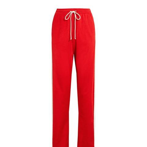 Paneled Stretch-Jersey Track Pants