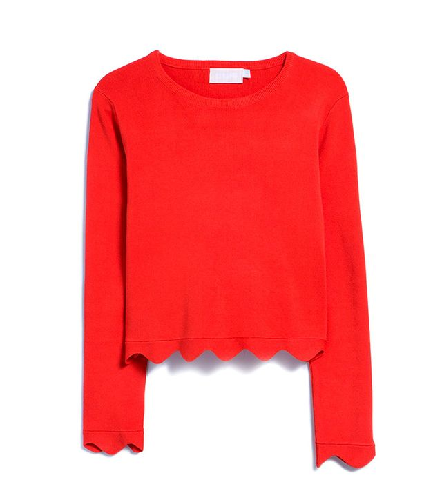 Farrow Scallop Hem Sweater
