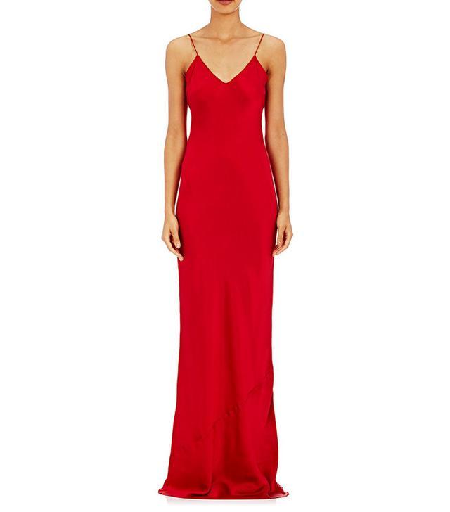 Nili Lotan red slip dress
