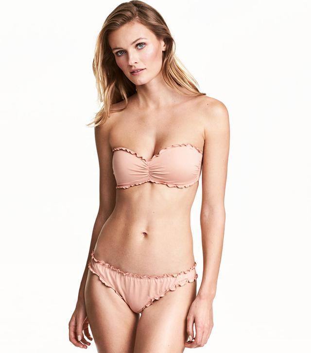 H&M Bandeau Bikini Top and Bikini Bottoms