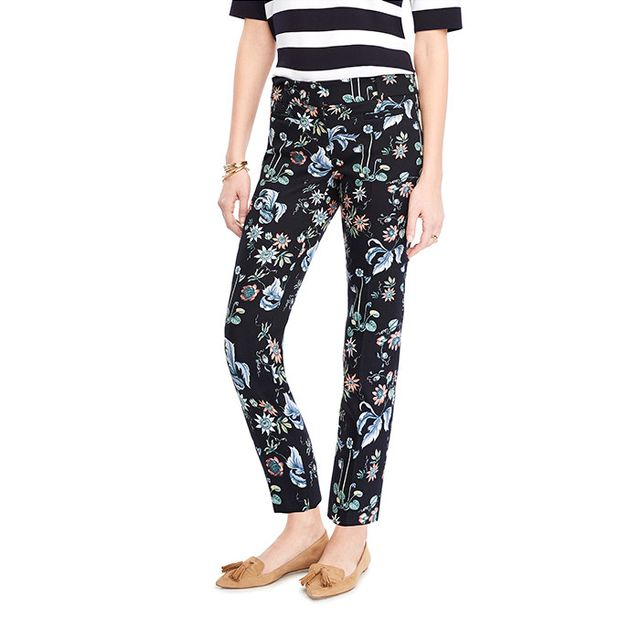 Ann Taylor The Cropped Pant in Wildflower - Devin Fit