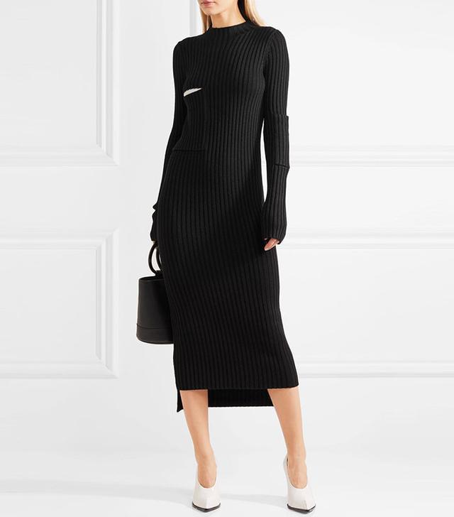 Joseph Bethany Ribbed-Knit Midi Dress