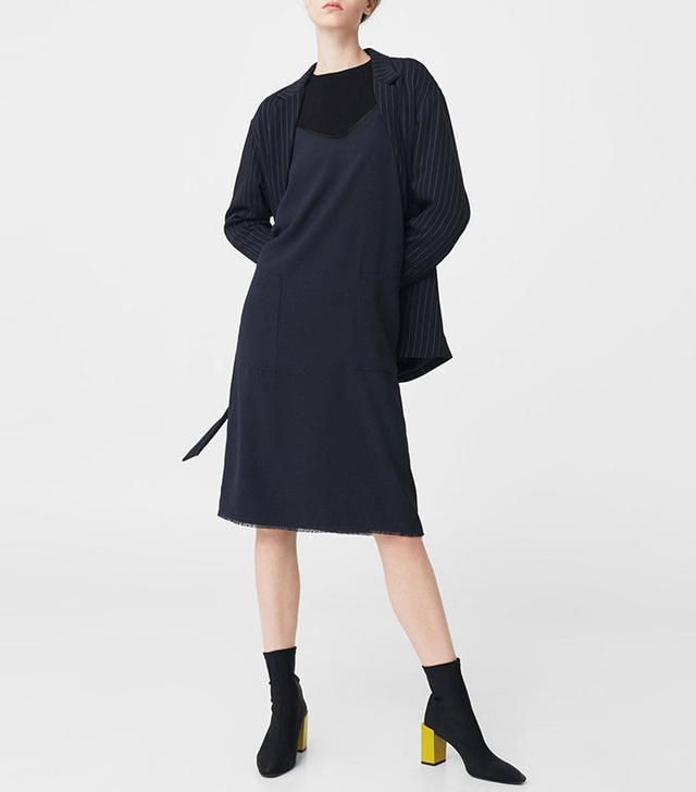 Mango Frayed Edges Dress