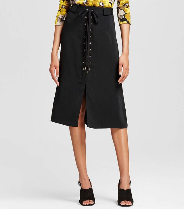 Who What Wear Women's Lace Up A-Line Skirt