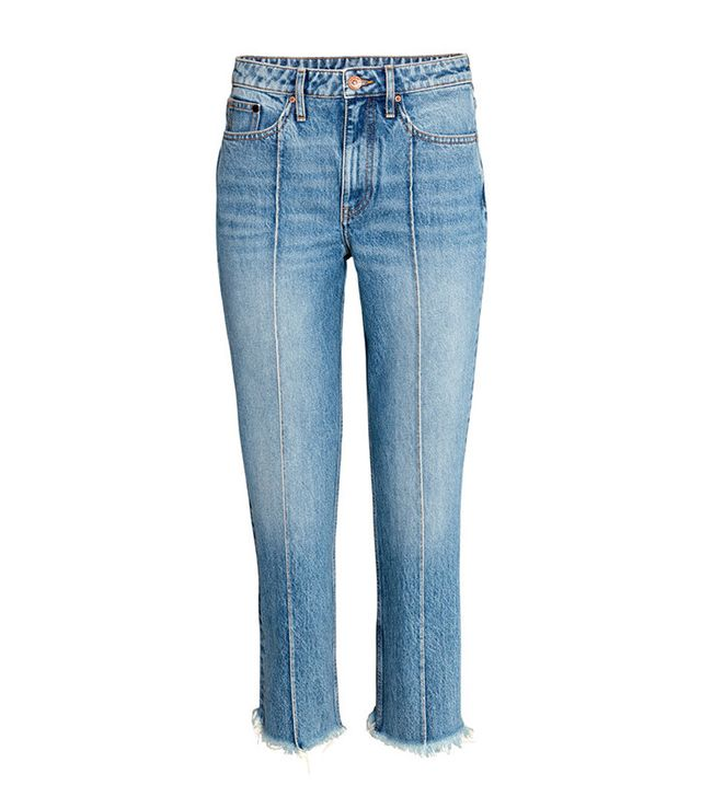 H&M Straight Cropped High Jeans