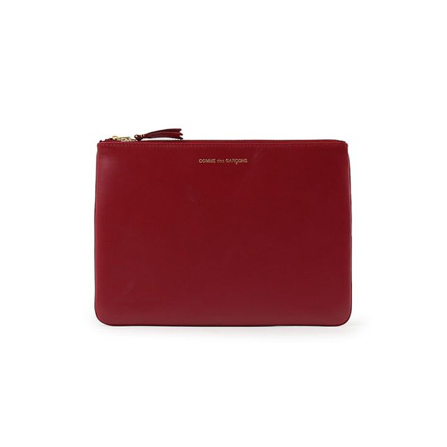 Commes Des Garcons Classic Leather Pouch Red