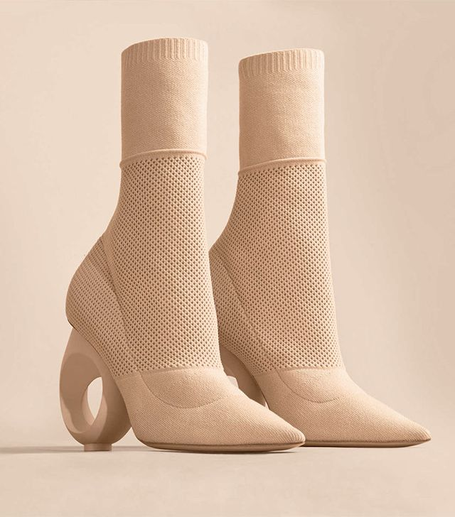 Burberry Mid-Calf Knitted Boots With Sculpted Heel