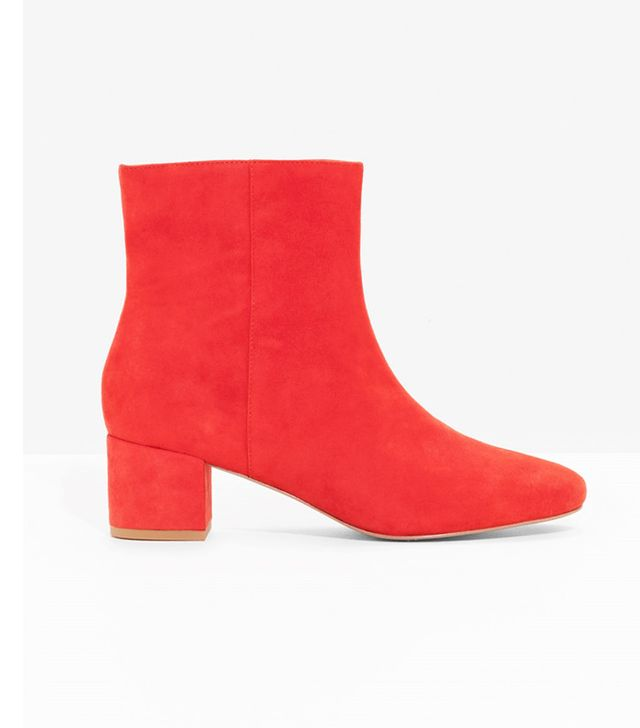 & Other Stories Suede Ankle Boots