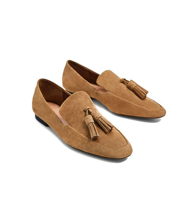 Zara Split Leather Loafers