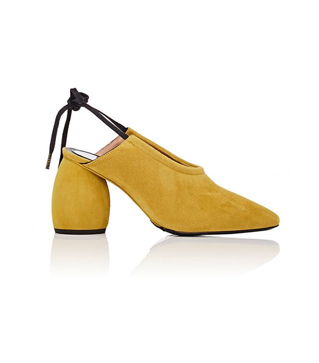 Dries Van Noten Sculpted-Heel Suede Sandals