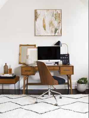 We Want to Work From Brooke Testoni's Vintage-Inspired Home Office