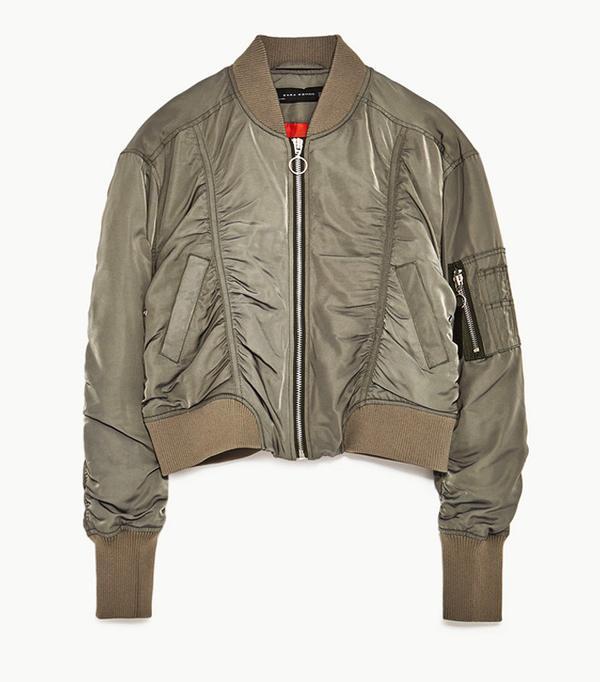 Best Bomber Jacket: Zara Cropped Bomber Jacket