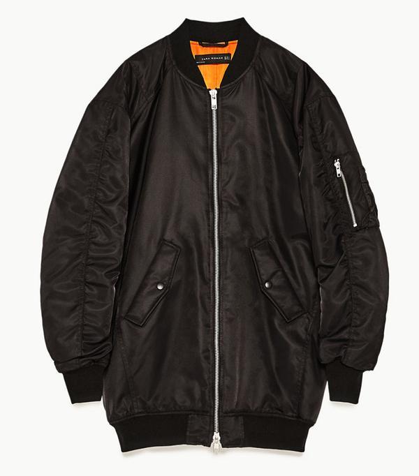 Best Bomber Jacket: Zara Black Bomber