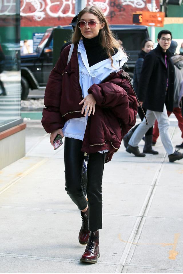 Best bomber jackets: Gigi Hadid in Vetements