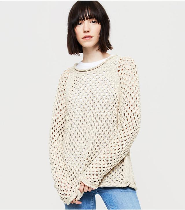Lou & Grey Mesh Sweater