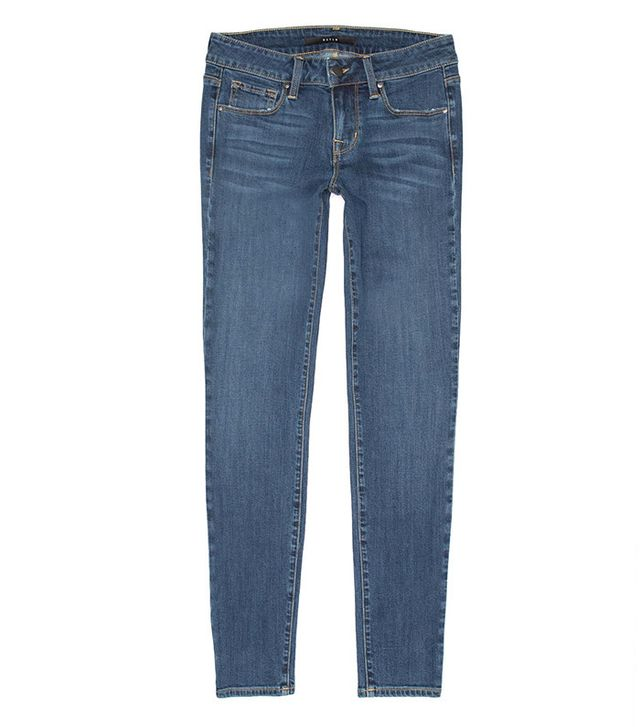 DSTLD Mid Rise Skinny Jeans in Medium Vintage