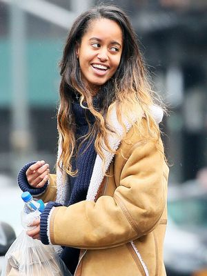 Malia Obama Knows the Best Shoes for Rainy Weather