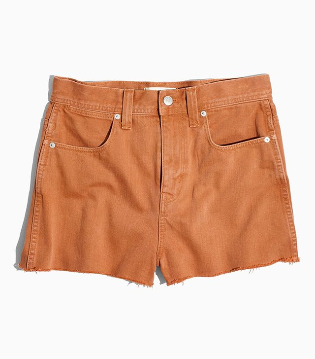 Madewell x Where I Was From High-Rise Jean Shorts in Brandy