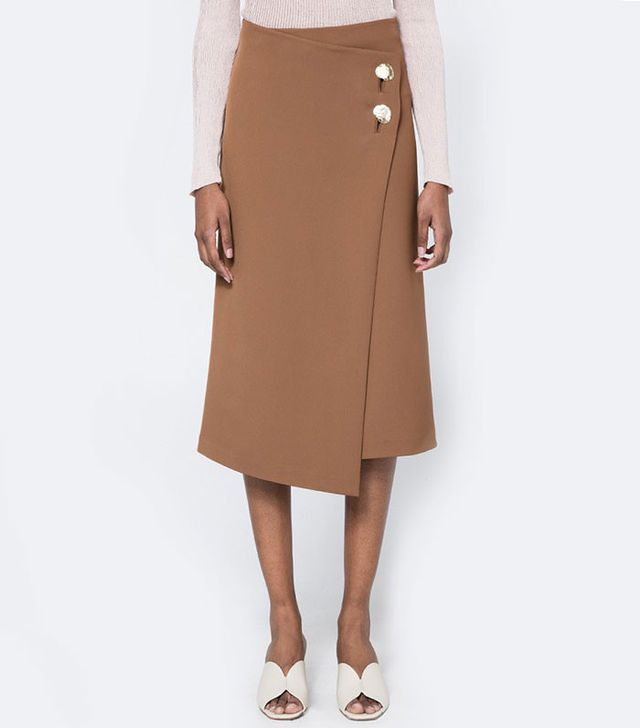 Achro Button Detail Wrap Skirt