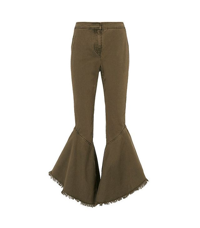 Cinq à Sept Wysteria Cropped Frill Pants