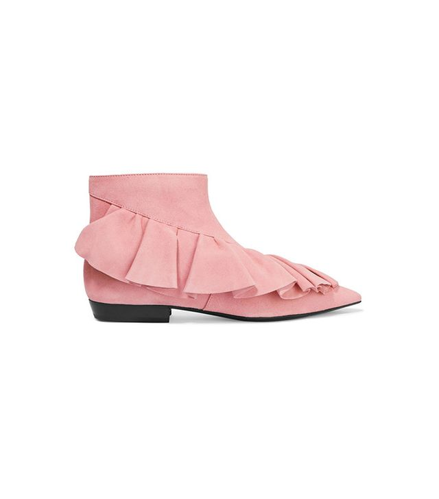 J.W.Anderson Ruffled Suede Ankle Boots