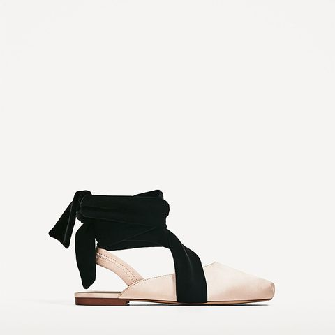 Slingback Ballerinas With Sateen Ribbons