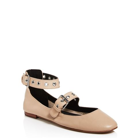 Rachel Buckle Mary Jane Flats