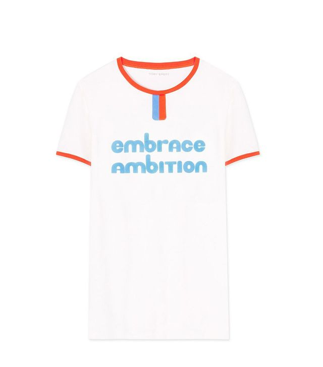 Tory Burch Embrace Ambition Ringer T-Shirt