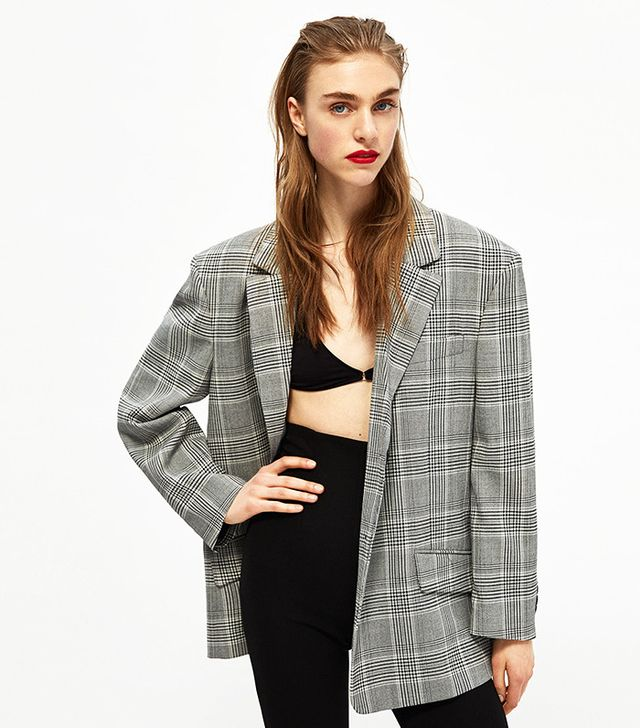 Zara Oversized Checked Jacket