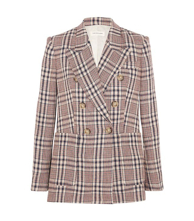 Étoile Isabel Marant Janey Checked Linen Blazer