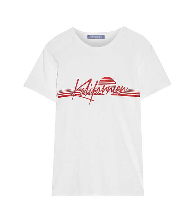 Koza Kalifornien Printed Cotton-Jersey T-Shirt