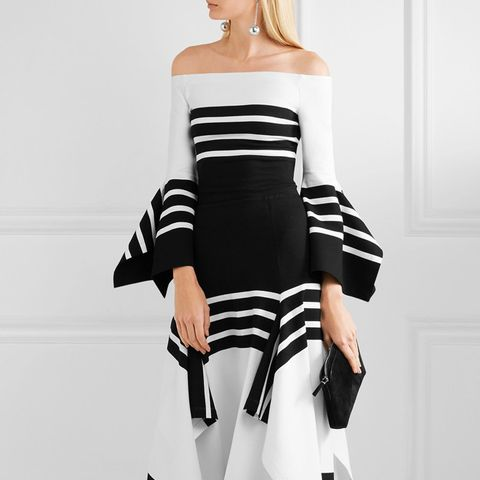 Off-the-Shoulder Striped Stretch-Jersey Top