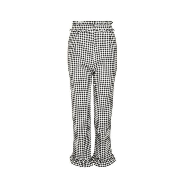 """<a href=""""https://www.westfield.com.au/chatswood/stores/all-stores/topshop-topman/58030"""" target=""""_blank"""">Topshop</a> Gingham Frill Pants"""