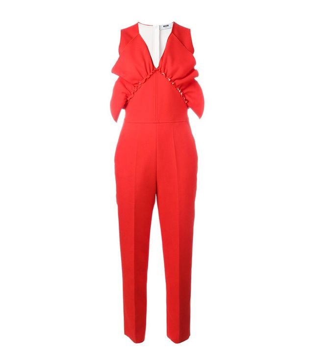 Ascot dress code: MSGM Ruffle Detail Jumpsuit