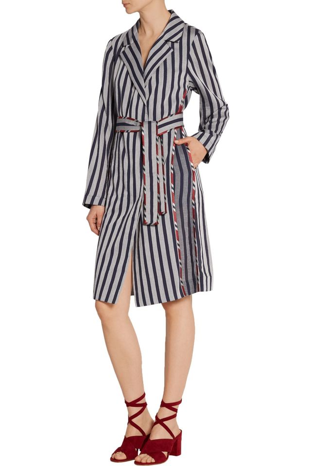 Tome Striped Cotton Shirt Dress