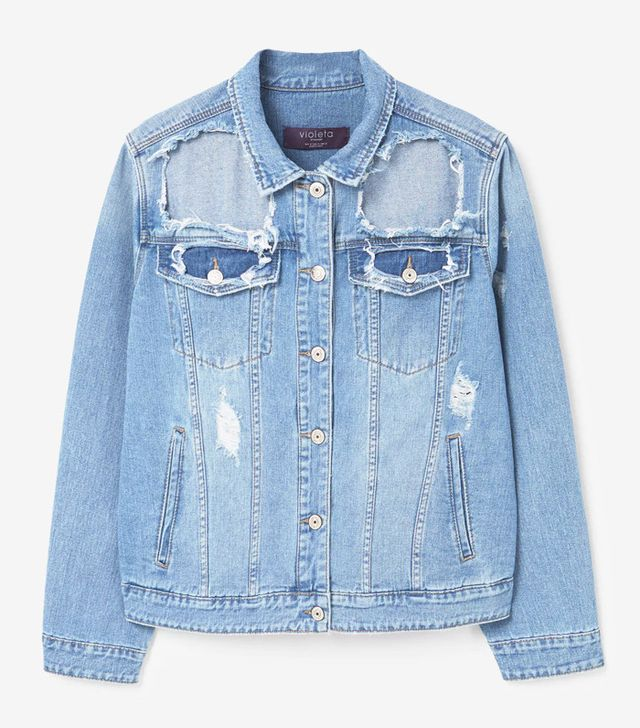 Most Popular Fashion Items 2017: Mango Violetta ripped denim jacket