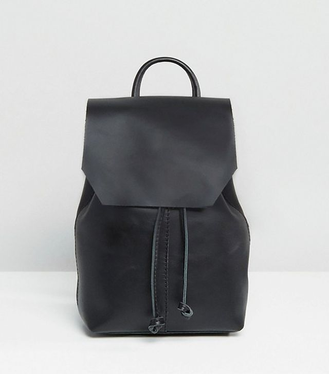 Most Popular Fashion Items 2017: ASOS black leather mini backpack