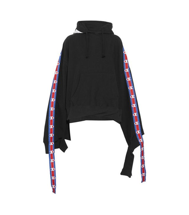 Vetements + Champion Cotton-Blend Jersey Hooded Top